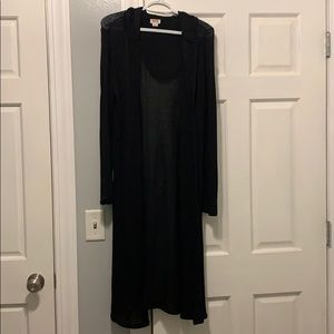 Long sweater black